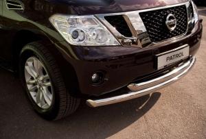 Nissan Patrol 2010 защита переднего бампера  d76/63 PAZ-000788